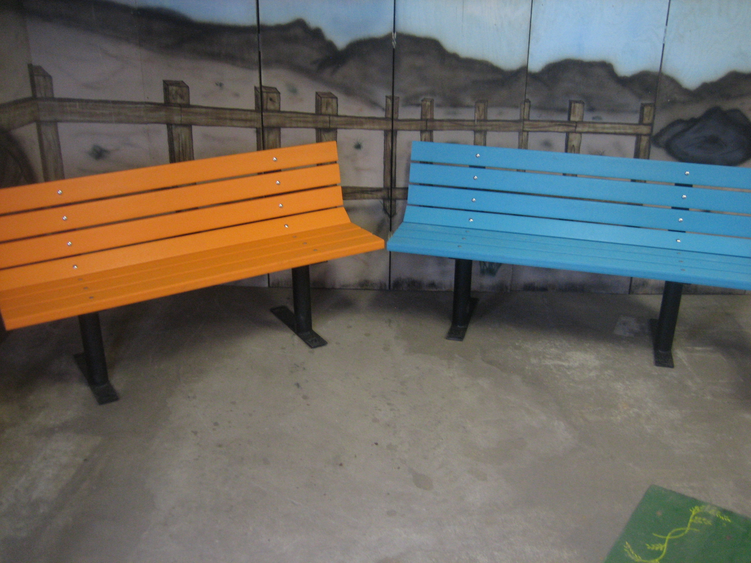 Vibrant Colored Bench(Free Standing w/ Recycled Plastic Lumber)