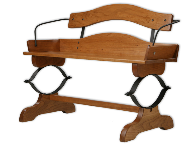 Cherry Buckboard Bench